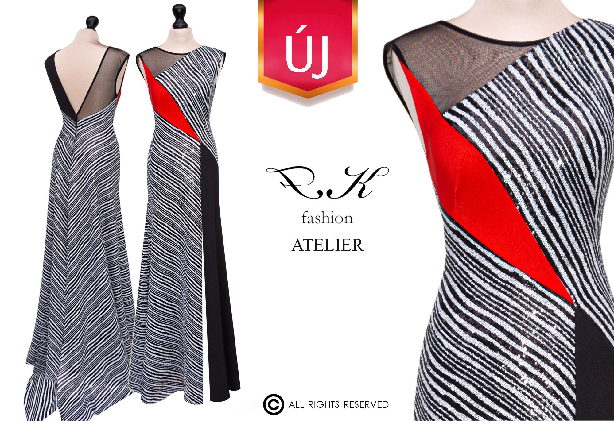 Textil: flitter és egyszínű matt textil, necc Méret: 36'-38' Ár: 175.000.- helyett 150.000.- HUF