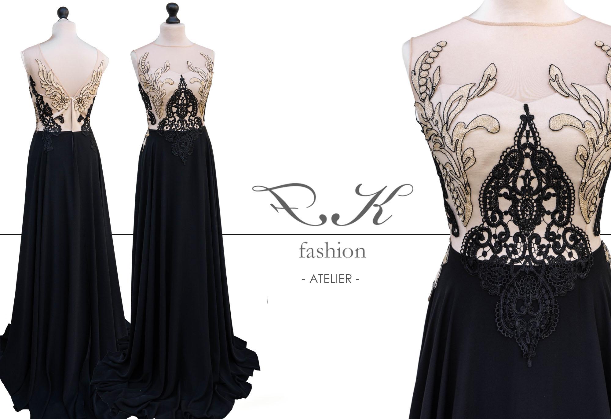 Fekete-nude-kézzel-csipkézett-tervezői-alkalmi-ruha-2020-FKfashion
