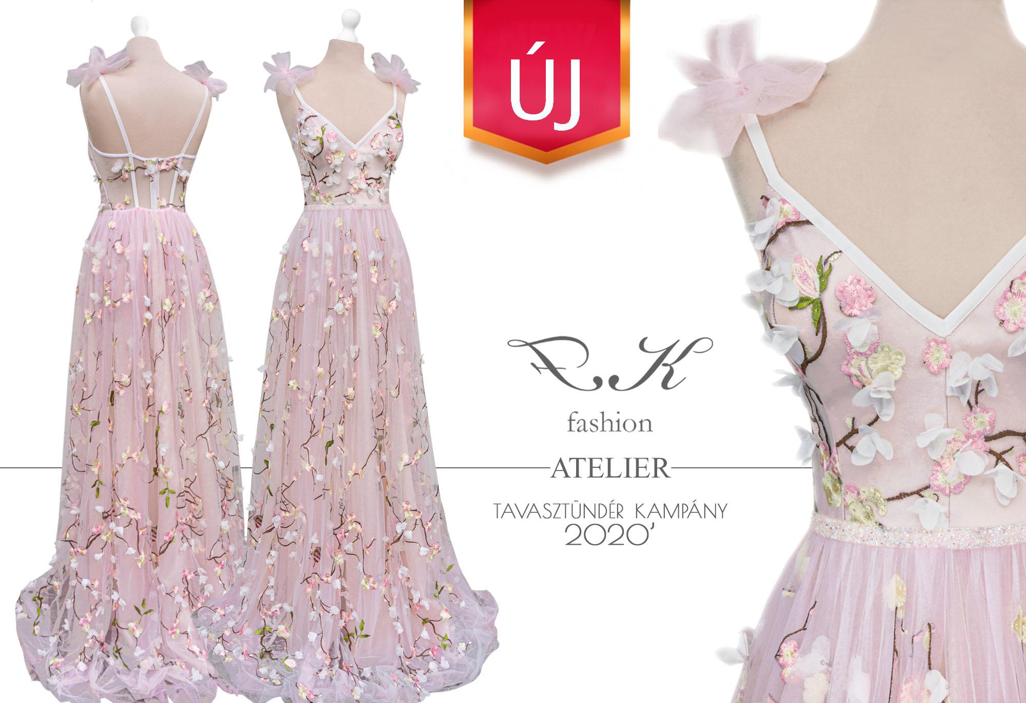 Textil: hímzett 3D puhatüll Méret: 36' Ár: 225.000.- helyett 185.000.- HUF  Extra:  Uszály hagyható rajta