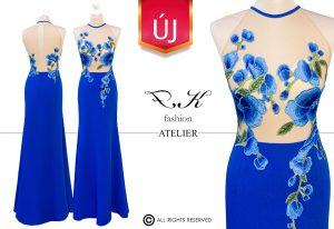 Illusion dress - királykék tervezői alkalmi ruha 2020' - FKfashion